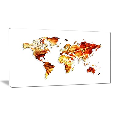 Designart Desgin Art Spring Colours Map Canvas Art Print, (PT2721-32-16)
