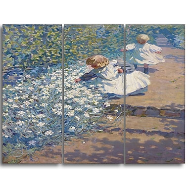 Designart – Imprimé sur toile, Picking Flowers, JEH MacDonald, 3 panneaux (PT4592-3P)
