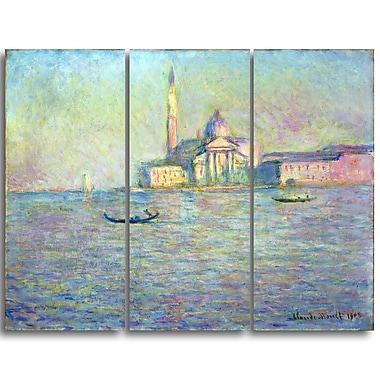 Designart – Imprimé sur toile, L'Eglise Saint Georges Majeur de Claude Monet (PT4234-3P)