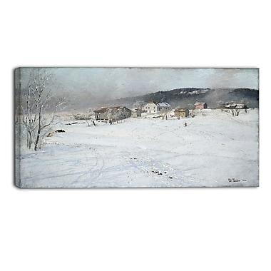 Designart – Frits Thaulow, Paysage d'hiver, imprimé sur toile (PT4406-32-16)