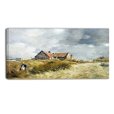 Designart Jean Charles Cazin, Cottages in the Dunes Canvas Art Print, (PT4581-32-16)