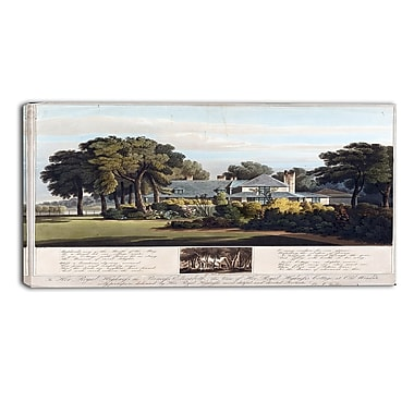 Designart J. Clark, View of the Princess Elizabeths Cottage Canvas Art Print, (PT4518-40-20)