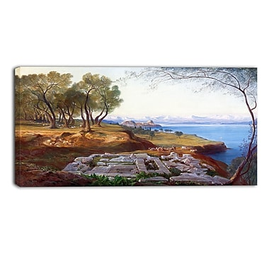 Designart – Imprimé de paysage sur toile, Corfu from Ascension, Edward Lear (PT4330-32-16)