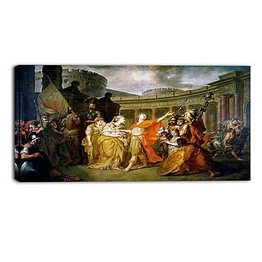 Designart Anton Losenko, Farewell of Hector and Andromache Canvas Art Print, (PT4148-32-16)