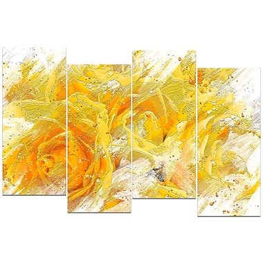 Designart Yellow Tulips Canvas Art Print, (PT3429-271)