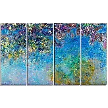 Designart Claude Monet, Wisteria Landscape Canvas Arwork, (PT4251-271)