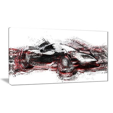 Designart Modern Super Car Small Gallery Wrapped Canvas, (PT2625-32x16)