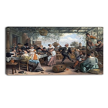 Designart Jan Steen, The Dancing Couple Canvas Art Print, (PT4554-32-16)