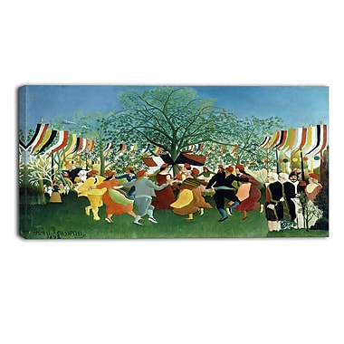 Designart Henri Rousseau, A Centennial of Independence Canvas Art Print, (PT4493-40-20)