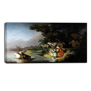 Designart Rembrandt Harmensz, The Abduction of Europa Canvas Art Print, (PT4876-32-16)