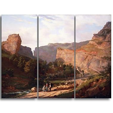 Designart George Vincent, A View of Cheddar Gorge Landscape Canvas Art Print, (PT4421-3P)
