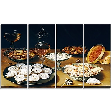 Designart Osias Beert the Elder, Dishes with Oysters Canvas Art Print, (PT4760-271)