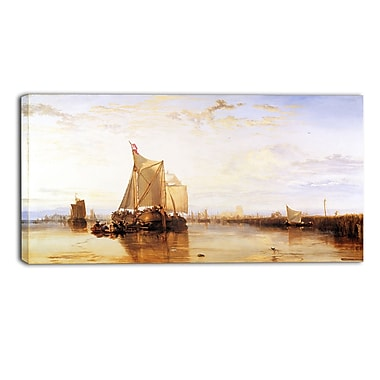 Designart – Imprimé sur toile, The Dort Packet-Boat from Rotterdam Becalmed, JMW Turner (PT4609-32-16)