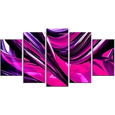Designart Pink and Purple Ribbons Canvas Art Print, (PT3040-373)
