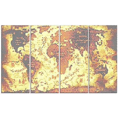 Design Art Hazy Orange Map Canvas Art Print