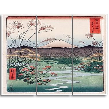 Designart – Toile imprimée de Utagawa Hiroshige, plaine d'Otsuki (PT4983-3P)