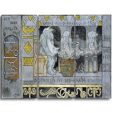 Designart Gerhard Munthe, The Second Hall Canvas Art Print, (PT4441-3P)