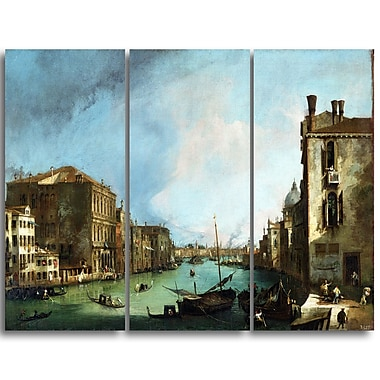 Designart Canaletto, The Grand Canal in VeniceCanvas Art Print, (PT4204-3P)