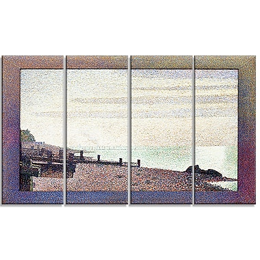 Designart Georges Seurat, Evening, Honfleur Sea & Shore Canvas Artwork, (PT4429-271)