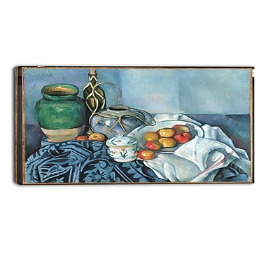 Designart Paul Cezanne, Still Life with Apples Canvas Art Print, 3 Panels, (PT4778-40-20)