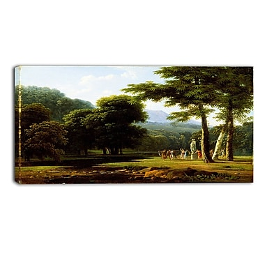 Designart Bertin Jean Victor, Landscape Master Piece Landscape Artwork, (PT4178-40-20)