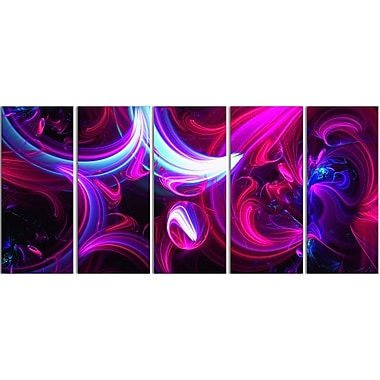 Designart Purple Haze Gallery-Wrapped Canvas, (PT3009-401)