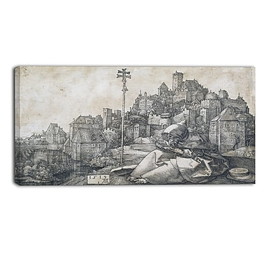 Designart Albrecht Durer, Saint Anthony Canvas Art Print, 3 Panels, (PT4118-40-20)