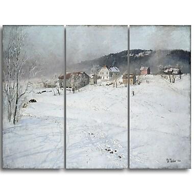 Designart – Frits Thaulow, Paysage d'hiver, imprimé sur toile (PT4406-3P)