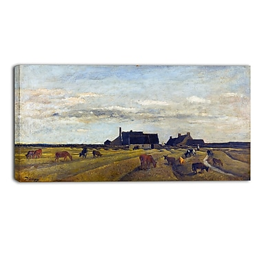 Designart – Toile imprimée, Paysage ferme à Kerity, Charles-Francois (PT4223-32-16)