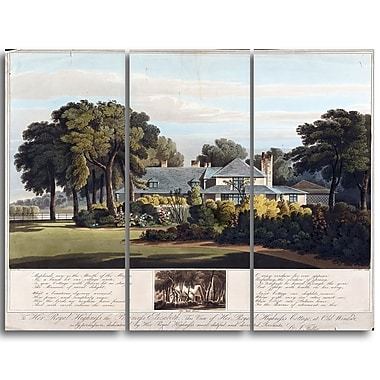 Designart J. Clark, View of the Princess Elizabeths Cottage Canvas Art Print, (PT4518-3P)