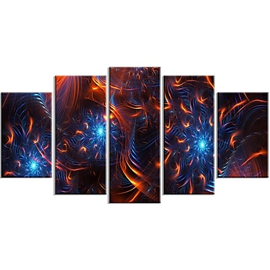 Designart – Art imprimé sur toile, feu et glace, 5 panneaux (PT3001-373)