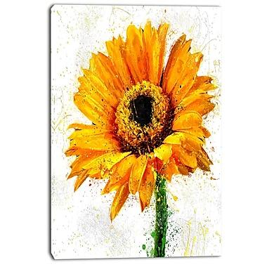 Designart – Motif floral imprimé sur toile, tournesol (PT3439-24-40)