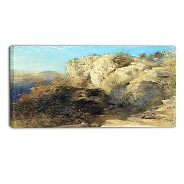 Designart – Toile imprimée de Samuel Palmer, Paysage rocheux dans le pays de Galles