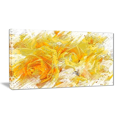 Designart Yellow Tulips Canvas Art Print, (PT3429-32-16)