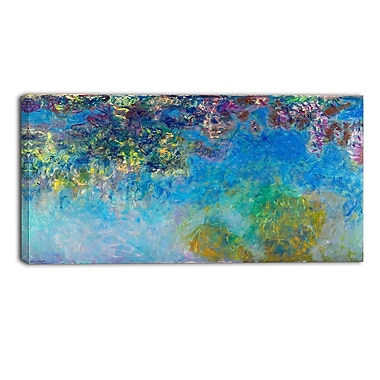 Designart Claude Monet, Wisteria Landscape Canvas Arwork, (PT4251-40-20)