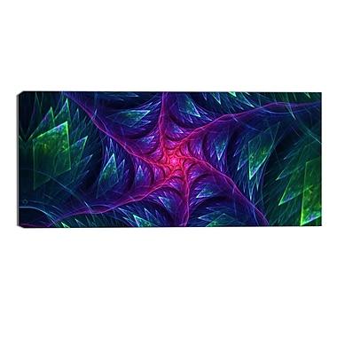 Designart – Imprimé moderne sur toile, Turbine violette la nuit (PT3047-32-16)