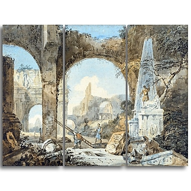Designart Thomas Girtin, Classical Composition Canvas Art Print, (PT4963-3P)