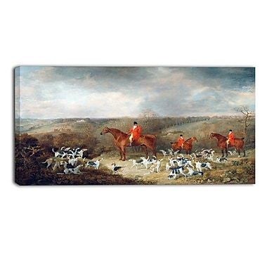 Designart Dean Wolstenholme, Lord Glamis and his Staghounds Landscape Canvas Art Print, (PT4295-40-20)