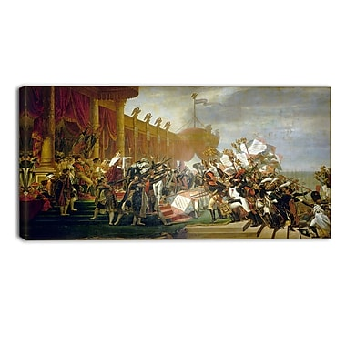 Designart Jacques Louis David, Army takes an Oath to Emperor Canvas Art Print, (PT4535-32-16)