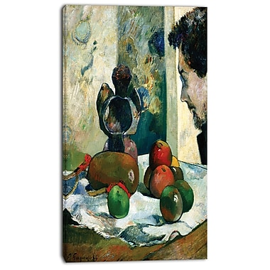 Designart Paul Gauguin, Profile of Laval Canvas Art Print, 3 Panels, (PT4411-16-32)