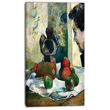 Designart – Paul Gauguin, Nature morte au profil de Laval, imprimé sur toile, 3 panneaux (PT4411-20-40)