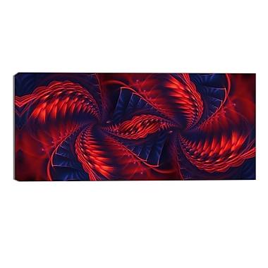 Designart Kaleidoscope Modern Canvas Art Print, (PT3034-32-16)