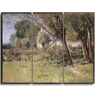 Designart Theodore Robinson, Willows Canvas Art Print, (PT4934-3P)
