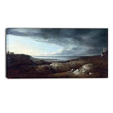 Designart Benjamin Barker, View of the River Severn Master Piece Landscape Artwork, (PT4171-32-16)