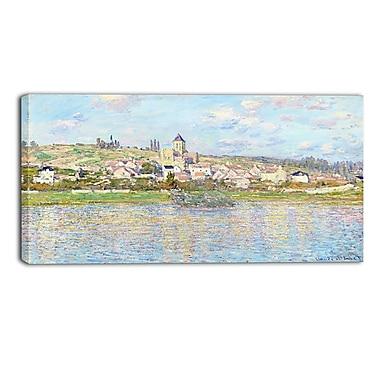Designart Claude Monet, Vetheuil Landscape Canvas Arwork, (PT4268-40-20)