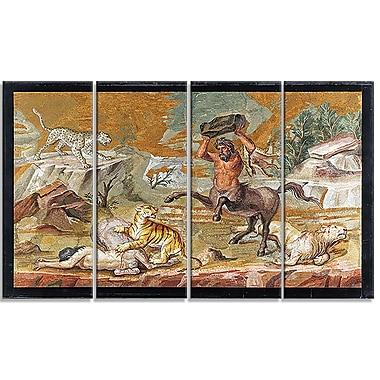 Designart – Imprimé sur toile, Mosaïque d'un centaure (PT4218-271)