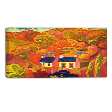 Designart Armand Seguin, Two Thatched Cottages Canvas Art Print, (PT4923-32-16)