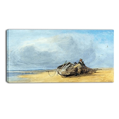 Designart John Sell Cotman, Yarmouth Sands, Norfolk Canvas Art Print, (PT4656-40-20)