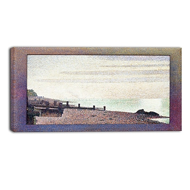 Designart Georges Seurat, Evening, Honfleur Sea & Shore Canvas Artwork, (PT4429-32-16)