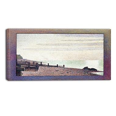 Designart – Georges Seurat, Embouchure de la Seine à Honfleur, soir, mer et rivage, toile d'illustration (PT4429-40-20)